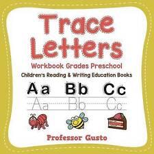 Trace Letters Workbook Grades Preschool : Children's Reading & Writing Education