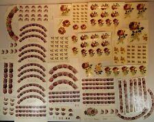 Konvolut 200 Schiebebilder Abziehbilder Rosen Bordüren zum Dekorieren Einbrennen