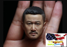 "1/6 Wu Jing Asian Male Head sculpt For Phicen 12"" Figure hot toys worldbox ❶USA❶"
