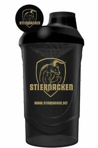 STIERNACKEN - Protein Eiweiß Mix Shaker Bottle Schwarz/Gold
