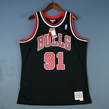 100% Authentic Dennis Rodman Mitchell Ness 97 98 Bulls Swingman Jersey Size S 36