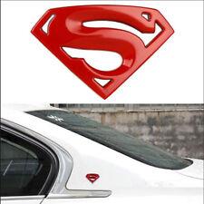 3D Superman Chrome Metal Auto Car Motorcycle Logo Sticker Badge Emblem Decal Red