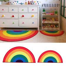 Rainbow Area Rug Colorful Floor Mat Carpet Bedroom Home Ornaments Non-slip