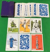 Rare Old Antique Square Corner PEOPLE AROUND THE WORLD Card Game Playing Cards