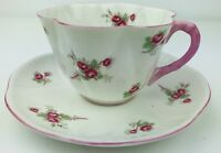 Vintage Shelley Fine Bone China Rose Spray Pink Tea Cup and Saucer