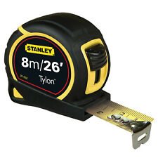 Stanley 8m 26ft Class II Tape Measure With Matt 25mm Tylon Blade, 030656