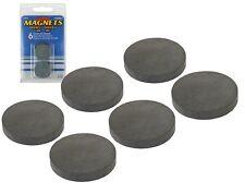 6 runde Magnete, Magnet rund 25 x 4 mm, starker runder Keramikmagnet
