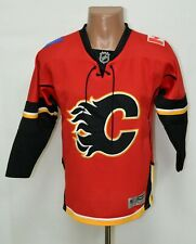 NHL CALGARY FLAMES ICE HOCKEY SHIRT JERSEY REEBOK SIZE L/XL KIDS