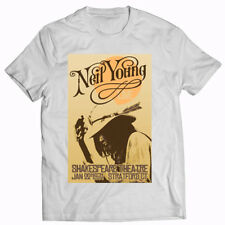 Neil Young. 1971. Music. Vintage. Cool. Cotton. White T-shirt