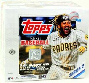 2021 Topps Series 2 Baseball Jumbo Factory Sealed Box
