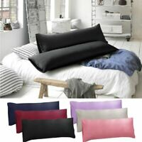 1-2PCS Body Pillow Cover Soft Microfiber Long Pillow Case for Body Pillows USA