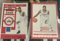 2019 2020 Panini Contenders Paul George Front Row Seat & Game Ticket Insert Lot
