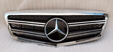 2010-2013 MERCEDES S CLASS W221 CL LOOK GRILLE CHROME BLACK INCL OEM MBZ STAR