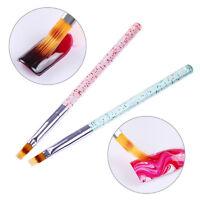 Gradient Acryl Pinsel UV Gel Malerei Stift Glitzer Griff Maniküre Nail Art Tool