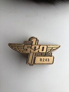 2016 Indianapolis 500 Motor Speedway Bronze Pit Badge Alexander Rossi Winner
