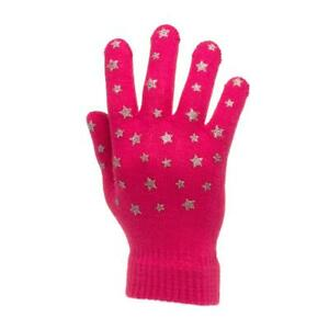 Lilley Kids Pink Grey and Pastel Pink 3 Pack Star Gloves