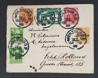 1920 Würzburg Germany Holland Bavaria Stamps Overprint Airmail Mixed Franking