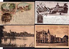 112743 4 AK Eutin Schloss Hotel 1919 Litho Voss Haus 1897 Denkmal Carl Maria von