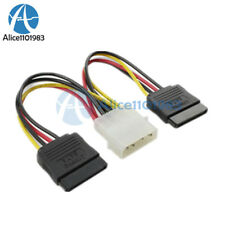 4Pin IDE to 2 Serial ATA Hard Drive SATA Power Adapter Cable D