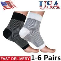 US Foot Ankle Sleeve Anti Fatigue Compression Swelling Relief Socks