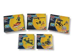 Make-It Blocks 5 Sets ( 2 Construction 2 Military 1 Fire Rescue) Compatible Sets