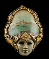 Maschera IN Miniatura Di Venezia Viso Rialto Artigianato Carta Pesta 22593