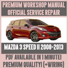 WORKSHOP MANUAL SERVICE & REPAIR GUIDE for MAZDA 3 SPEED II 2008-2013 +WIRING