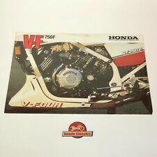 Honda VF750F Original Honda Sales Brochure. HSB579