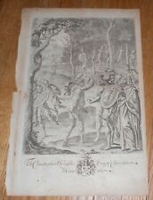1654 Antique Old Master Print from Ogilby's Virgil Mythology The Underworld