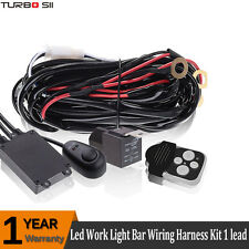 12V Wiring Harness Kit Relay Remote Control Switch For LED Work Light Bar 1 Lead