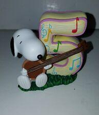Snoopy Peanuts Charlie Brown Westland Giftware 8195 Number 5 Birthday Figurine