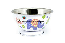 Elephant Hand Paint Stainless Steel Mixing Bowl Set Home Kitchen Food Container