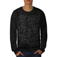 Wellcoda Chemistry Science Geek Mens Sweatshirt, Geek Casual Pullover Jumper