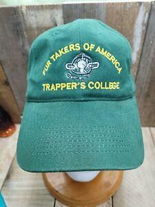 Vintage Fur Takers Of America Trappers College Instructors Hat Cap Adjustable