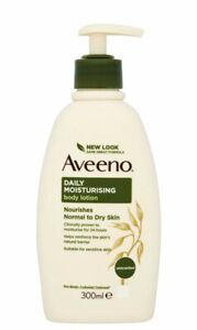 Aveeno Daily Moisturising Lotion, Moisturises for 24 Hours, Body 300 ml New