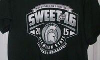 2015 MICHIGAN STATE SPARTANS large NCAA SWEET 16 Basketball tee shirt mens top