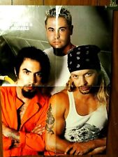 Navarro-Silvera & Michaels Poison /Sevendust Centerfold Poster double sided