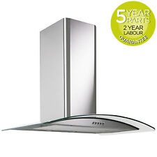 MyAppliances REF28302 70cm Curved Glass Chimney Cooker Hood Extractor S/ Steel