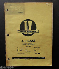 J I Case Shop Manual Implement & Tractor I & T Shop Service Manual C-2