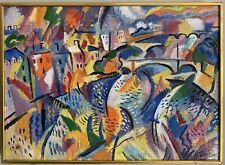 FAUVIST/ MODERNIST OIL VIEW OVER PARIS & RIVER SEINE - BY YURI DENISSOV (b.1962)