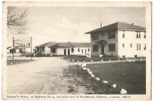 Woodstock Ontario Canada ~ Houser's Motel on Highway No.2 ~ 1940's