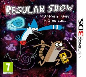 Regular Show Mordecai & Rigby In 8-Bit Land - Nintendo 3DS Game. Complete