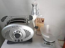 TOSTAPANE RADIO ARIETE + FRULLATORE AD IMMERSIONE IMETEC + BILANCIA DA CUCINA.