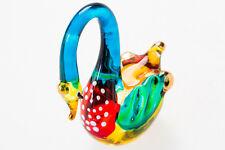 Blown Glass Animal Swan Miniature Handmade Figurine Collectible Craft Decor Gift