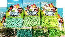 Perler Bead 7x1,000, D Green, L, Pastel, Bright, Prt Gr, Evergreen, Kiwi Lime