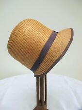 ORIGINAL VINTAGE 1920's YOUNG GIRL'S STRAW & BLUE RIBBON CLOCHE HAT