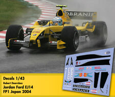 Decals 1/43 - F1 - Robert Doornbos - Jordan Ford EJ14 - Japan GP