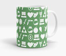 The Legend Of Zelda Inspired Pattern Art Print Ceramic Coffee Mug / Cup