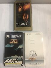 Vhs Movies! The Sixth Sense, What Lies Beneath, The Hitcher!