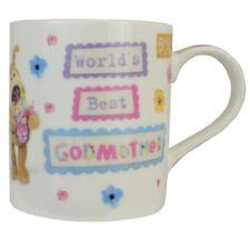 Boofle World's Best Godmother China Mug In Gift Box Birthday Christmas Gifts